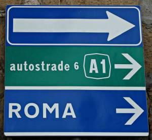 Italien Verkehrszeichen