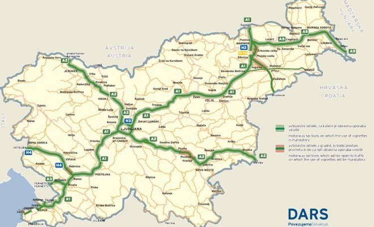 Slowenien Autobahnnetz