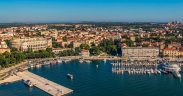 Sehenswertes in Pula - Blick ueber die Stadt - Ferien in Istrien