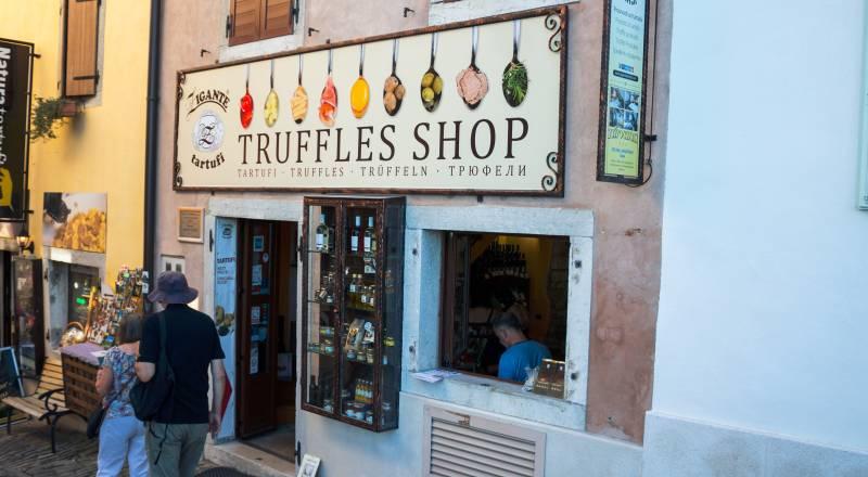 Trüffel in Motovun - Shop in der Innenstadt - Istrien