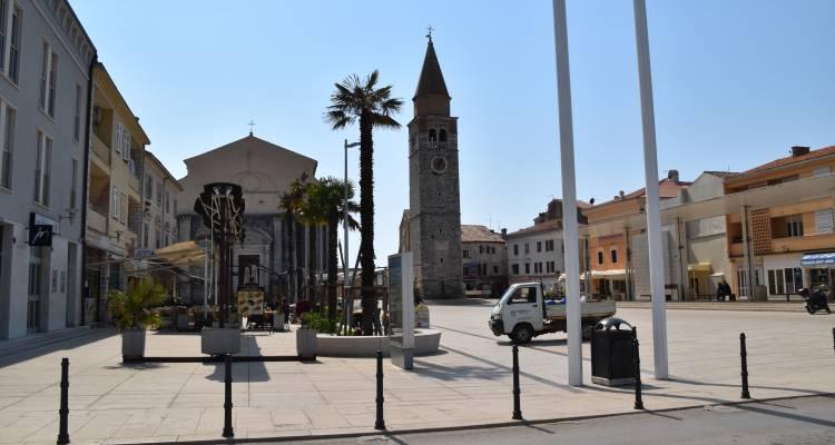 Hafenstadt Umag Marktplatz