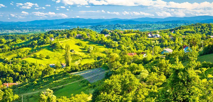 Plešivica Zagreb Landschaft