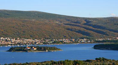 Punat Krk Blick von Bucht