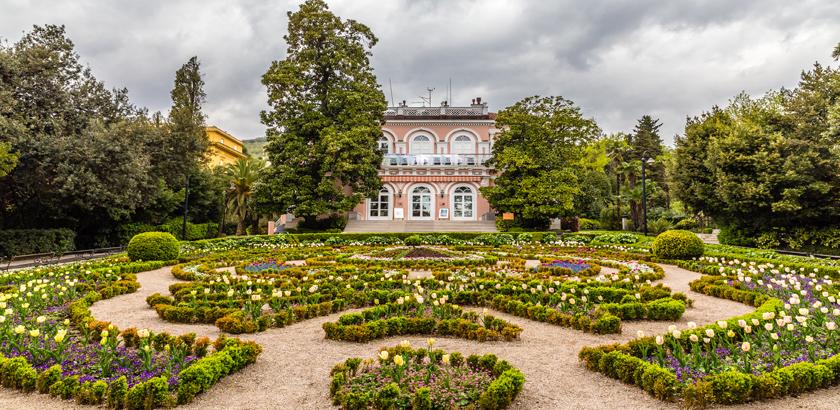 Opatija Villa Angiolina Parkansicht