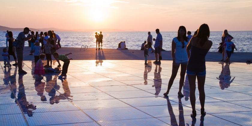 Zadar Gruss an die Sonne Beitrag