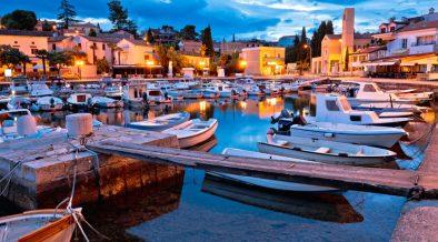 Malinska Hafen Nacht
