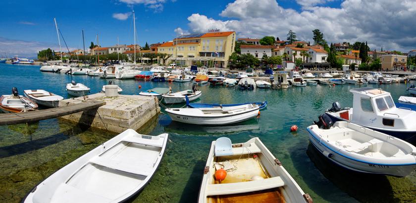 Malinska Hafen Panorama