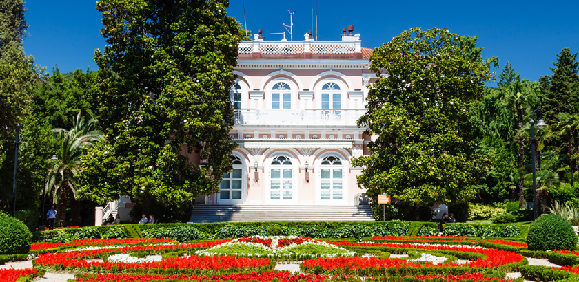 Opatija Villa Angiolina Parkansicht 2