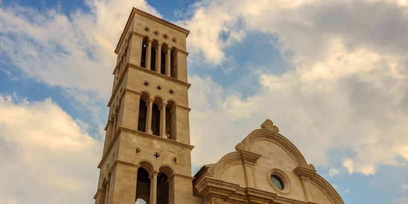 Stephan Kathedrale Turm Hvar Stadt
