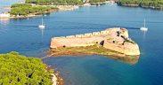 Šibenik Die Festung Sveti Nikola Birdview