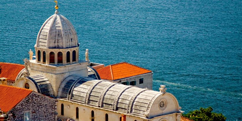 Šibenik Kathedrale des Heiligen Jakob von oben
