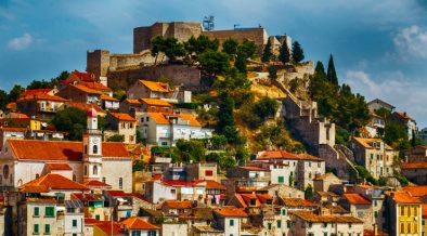 Šibenik Festung Sveti Mihovil Stadtansicht