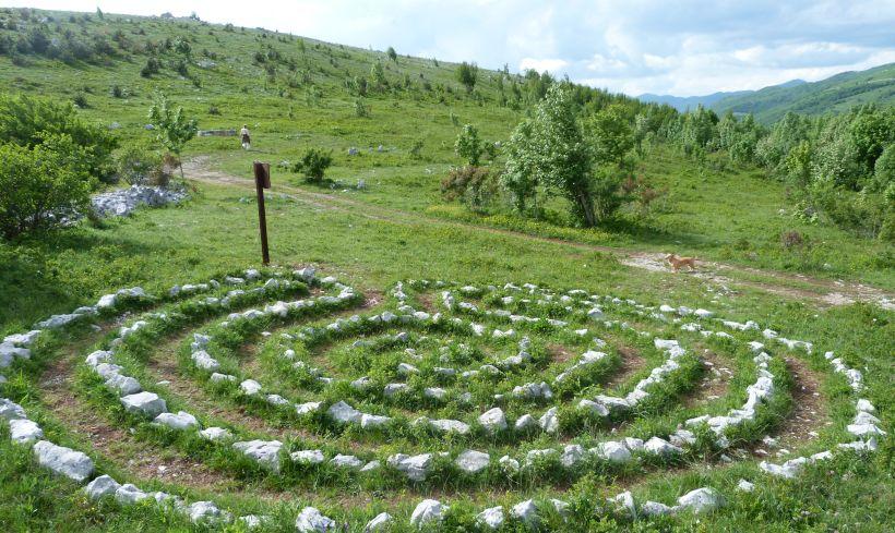 Labyrinth Insel Cres Hügel