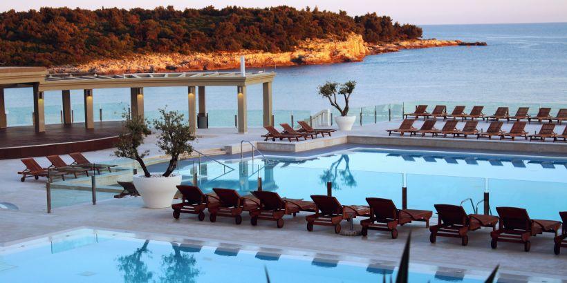Restaurant Oliva mit Pool Verudela Istrien