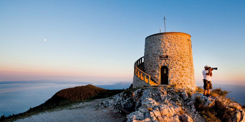 Wandern in Kroatien Gipfel kvarne opatija riviera
