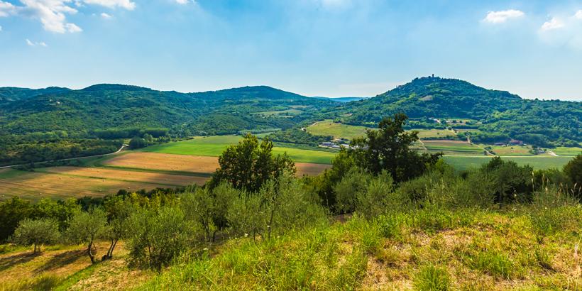 Barockschloss Belaj Landschaft Istrien