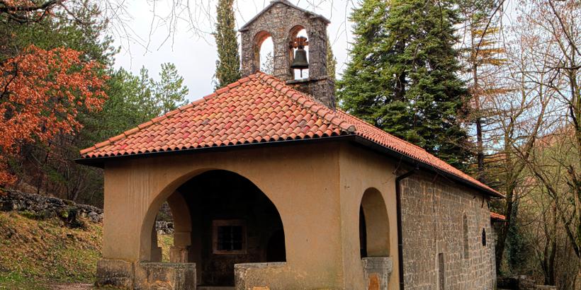 Beram nahe Pazin Istrien Kirche aussen