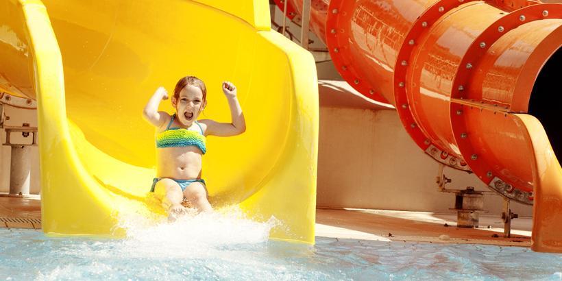 Poreč mit Kindern erleben Wasserrutsche