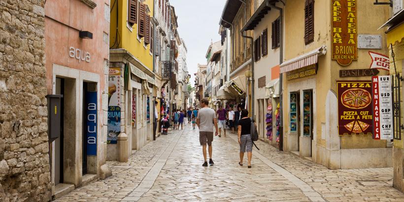 Shoppen in Poreč nach Lust und Laune Altstadt