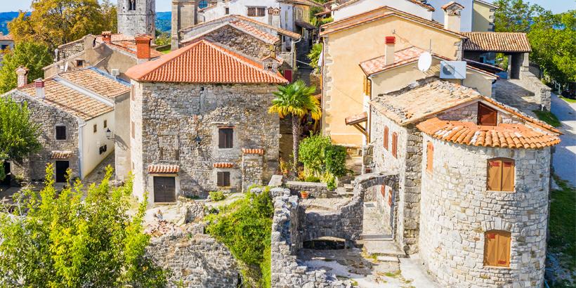 Hum - Kroatien, kleinste Stadt der Welt