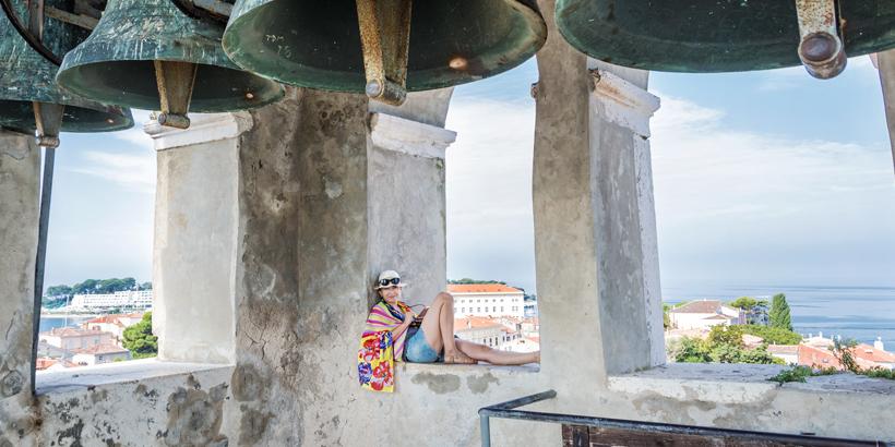 Porec-Kroatien Aussicht vom Glockenturm genießen