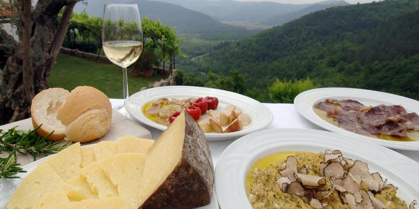 Motovun Kroatien, Köstlichkeiten der Region