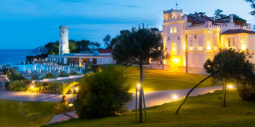 Porec-Kroatien, schöne Gebäude auf Sveti Nikola
