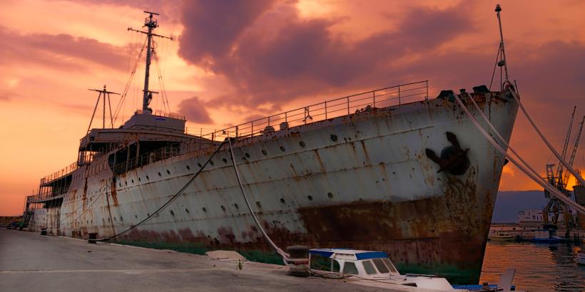 """Altes Schiff """"Galeb"""" des ex-jugoslawischen Präsidenten Tito im Hafen von Rijeka"""