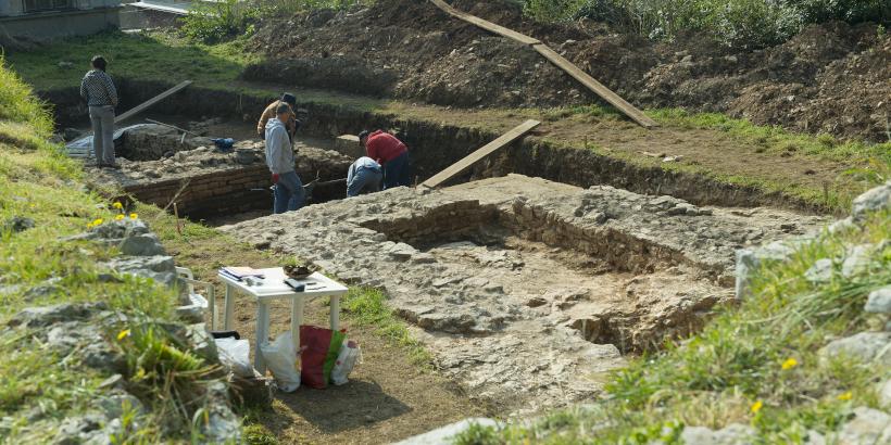 Ausgrabung für Archäologisches Museum Pula