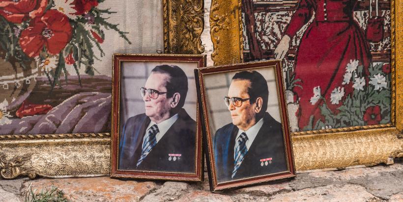 Bilder vom ehemaligen Präsidenten von Jugoslawien Josip Broz Tito
