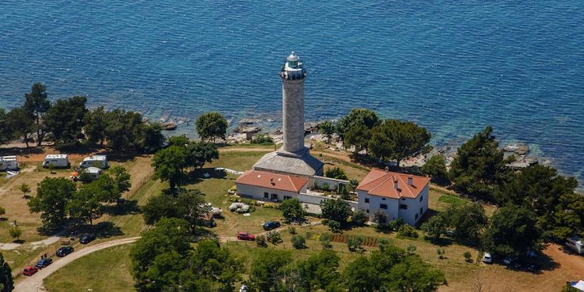 Camping Savudrija direkt neben dem Leuchtturm