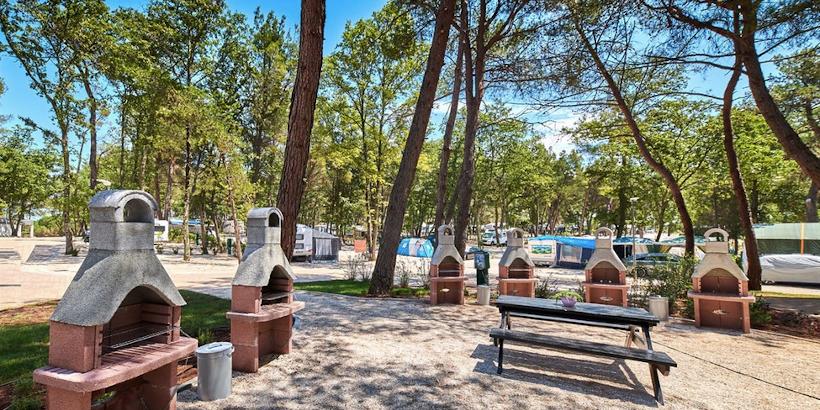 Grillplatz von Camping Stella Maris Umag