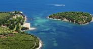 Insel Koversada vor dem Koversada Naturist Park am Festland