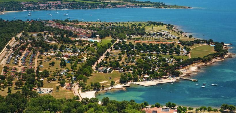 Bucht von Camping Park Umag im Nordwesten von Istrien