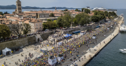 Läufer in Zadar beim Wings for Life World Run - Ausnahmelauf Wings for Life 2020