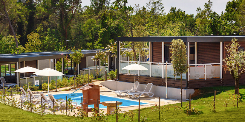 Mobile Home Deluxe mit Pool in Vabriga Istrien