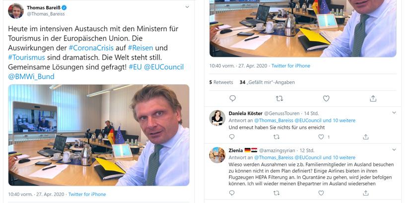 Sommerurlaub 2020 Thomas Bareiß Tweet