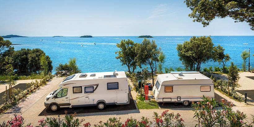 Stellplatz am Wasser für Wohnmobil und Wohnwagen in Istrien