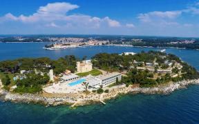Valamar Isabella Island Resort auf der Insel Sveti Nikola vor Poreč