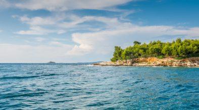 Velika Sestrica - eine winzige, felsige und buschige Insel nahe Rovinj in Istrien
