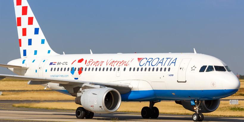 Croatia Airlines Airbus A319 Luftbrücke