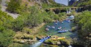 Wildwasser Rafting Kroatien - Kayaking am Fluss Zrmanja - landschaftliches Idyll