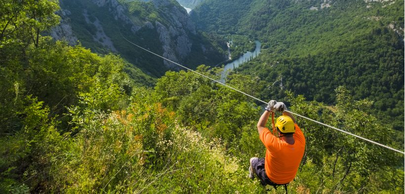 Zipline in Omiš - Flug über Fluss Cetina an der Split Riviera