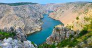 Zrmanja Canyon in Südkroatien ist bekannt für Winnetou Drehorte