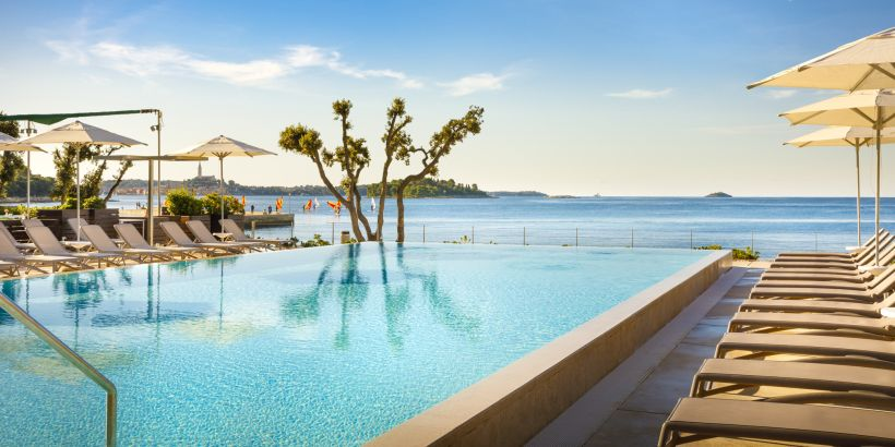 Resort Amarin mit Pool und Meerblick in Rovinj