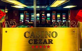 Eingangsbereich des Casino Cezar im Westin Hotel in Zagreb