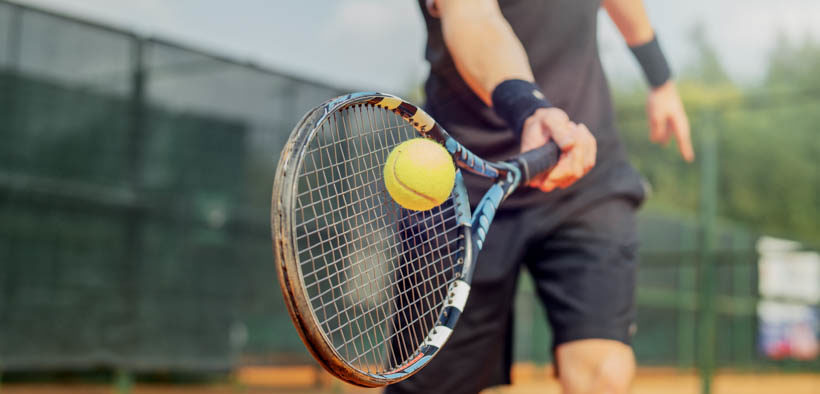 Tennisspielen in Istrien