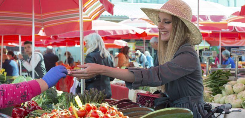 Dolac Markt in Zagreb.