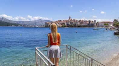 Zu Fuß auf Korčula