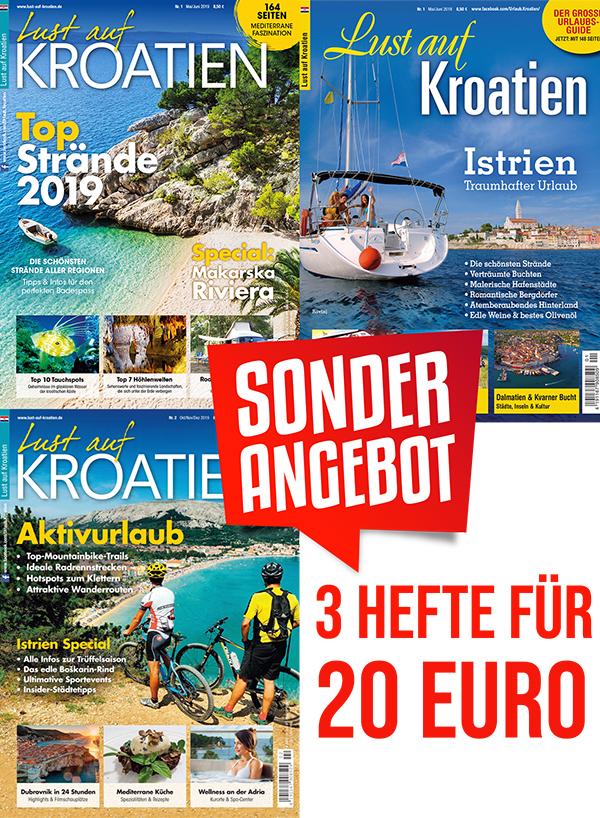 Lust auf Kroatien 3 Hefte Pack